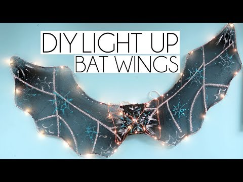DIY LIGHT UP POUNDLAND BAT WINGS | CRAFTOBER #3