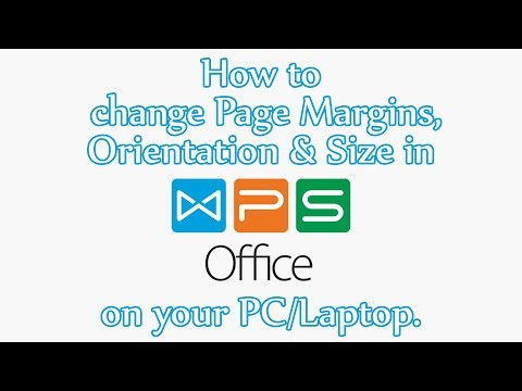 WPS Office #1 | Change Page Margins, Orientation & Size in WPS Office on your PC/Laptop | FULL HD