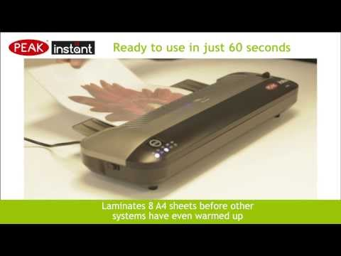 Peak Instant PI-320 Pouch Laminator Video