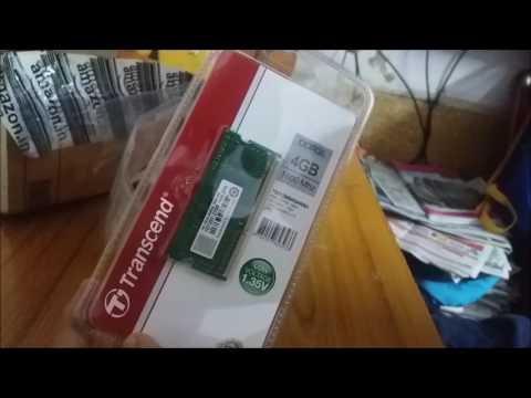 Transcend 4GB DDR3L 1600 LAPTOP RAM unboxing AMAZON