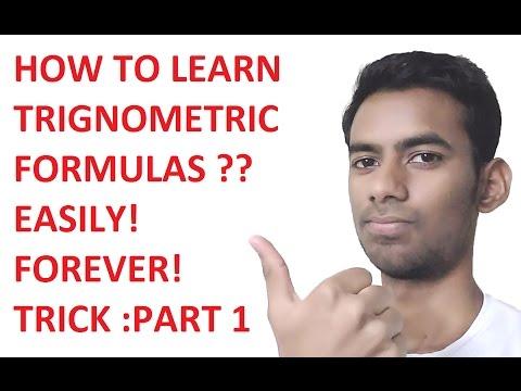 How to learn Trigonometric Formulas? Trick: Part-1:Hindi (CHECK DESCRIPTION FOR IMPROVED VERSION)