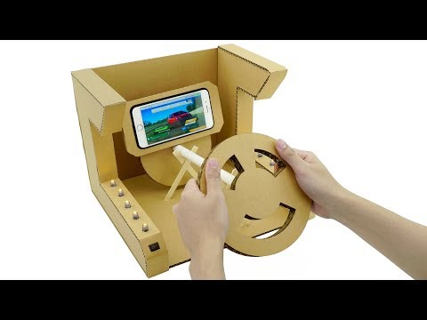 How to Make Amazing Gaming Steering Wheel for Smartphone from Cardboard