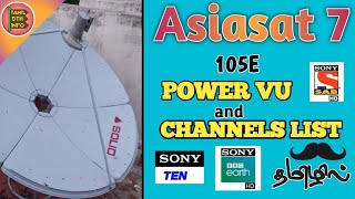 Asiasat 7 satellite @105 5E new updated channel list 2019 on