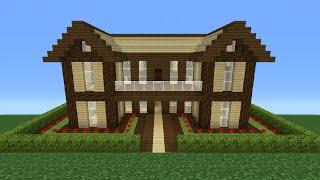 Minecraft House Tutorial Easy Big House 32