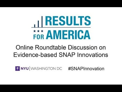 Promoting Economic Mobility Through Evidence-Based SNAP Innovations