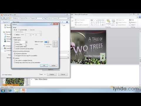Saving your presentation as a PDF
