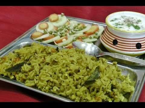Sprouted Green Moong Khichdi - Healthy Rice Recipe