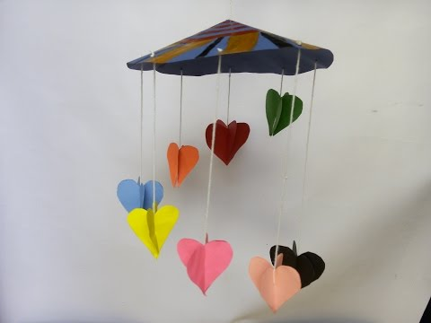 3D Paper Heart wall hanging