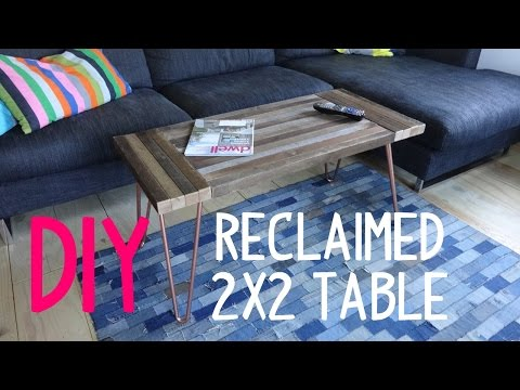 Build a Simple Hairpin Table... with 2x2's!