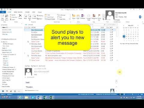 How to Turn off Desktop Alerts in Outlook 2013