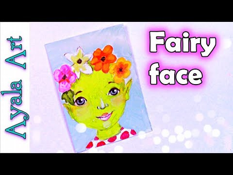Paint a fairy | Doodle with pencil | how to paint a face easy | 29 faces challenge by AyalaArt