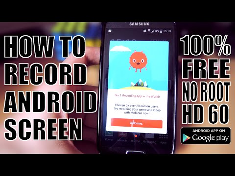 How To Record Your ANDROID Screen For FREE (2016)