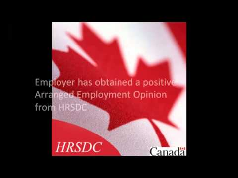 ARRANGED EMPLOYMENT OPINION FOR CANADIAN IMMIGRATION