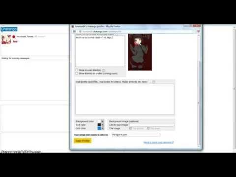 Chatango: HTML Mini Profile Tutorial