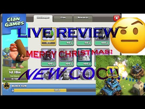 !NEW DECEMBER 2017 UPDATE!!| NEW COC??! | LIVE BASE REVIEW| LIVE WAR ATTACKS| LIVE ATTACKS!!?