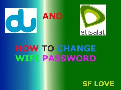 how can change wifi password etisalat uae كيف يمكن تغيير كلمة المرور