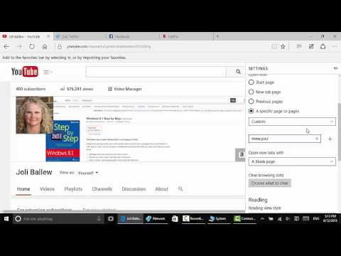 Windows 10: Configure Microsoft Edge to Open with Multiple Home Pages