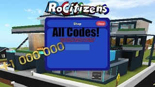Rocitizens: ALL OF THE MONEY CODES!!! [WORKING] [December