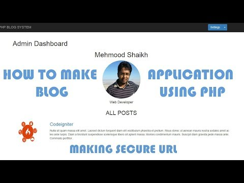 PHP BLOG Application - Making Secure URL's Part-5
