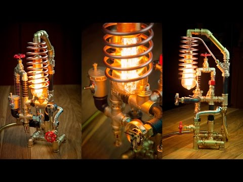 Steampunk DIY Industrial Pipe Lamp #3