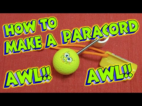 How To Make A Paracord Awl!!