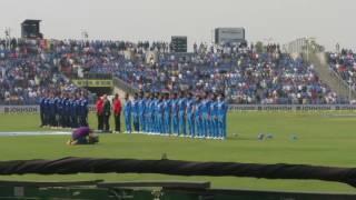 Paytm India vs England 1st ODI Pune National Anthem 2017 Stadium View