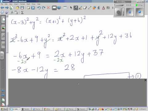 Finding the circumcentre of a triangle if the coordinates of the vertices are known