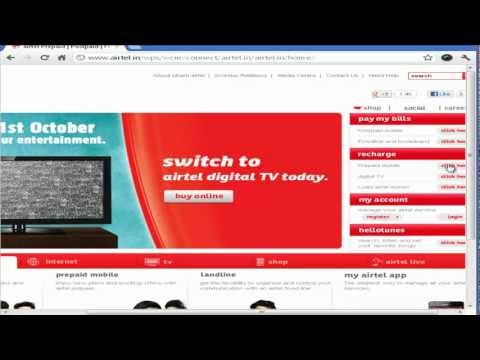 Airtel Online Recharge using Net Banking