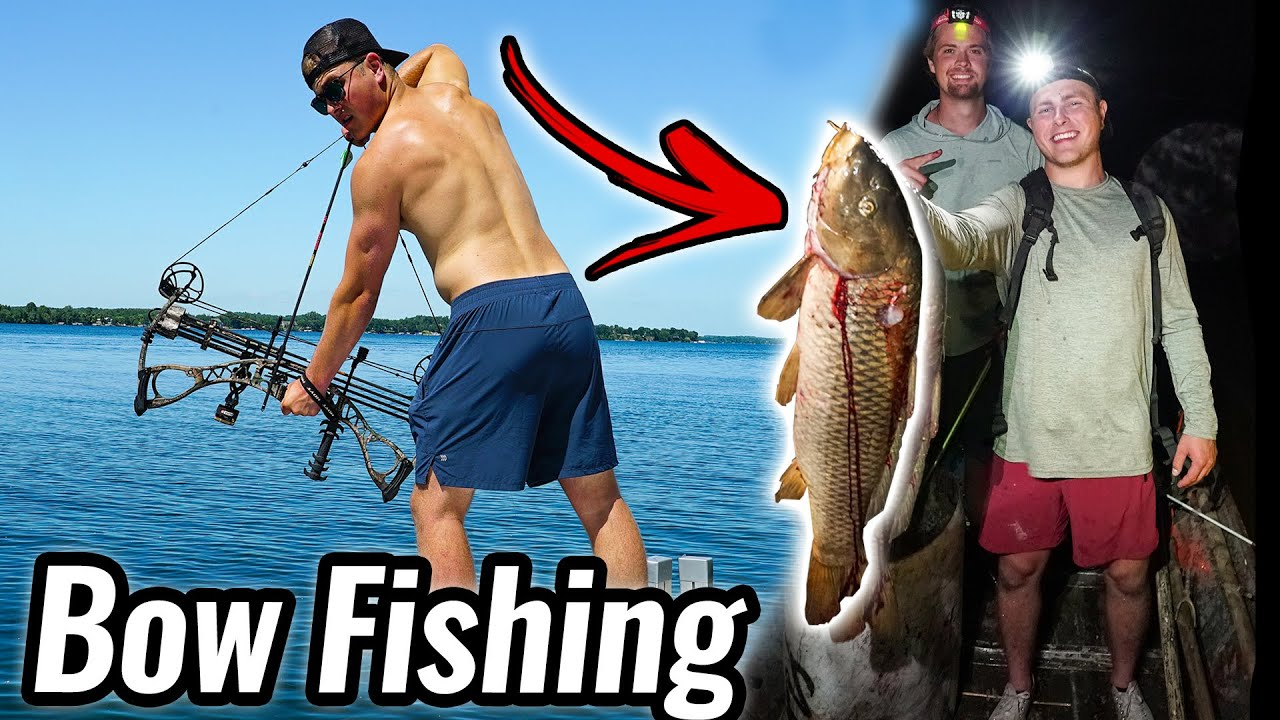 Bow Fishing for Huge Carp!!!