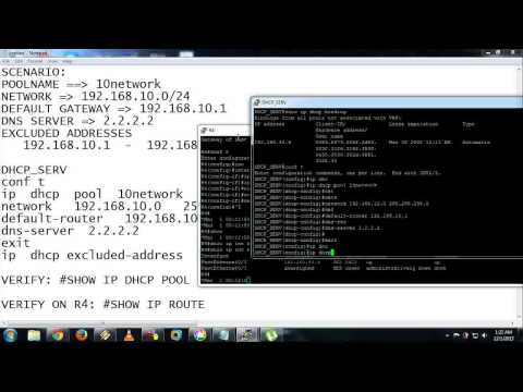 CISCO - DHCP LAB W/ EIGRP ROUTING