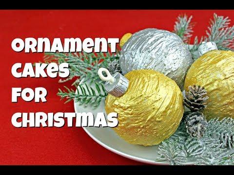 Christmas Ornament Cakes || Gretchen's Vegan Bakery