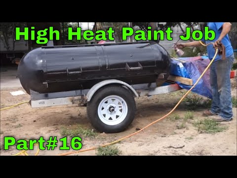 Propane tank smoker / grill trailer build Part 16