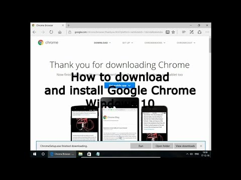 How to download and install Google Chrome Windows 10