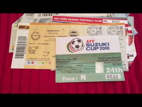My football ticket collection part 1
