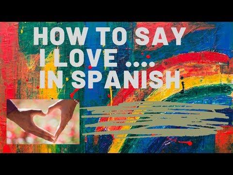 How Do You Say 'I Love' In Spanish- Me Encanta