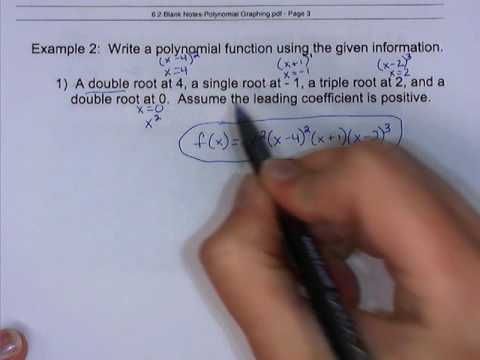 6.2 - Graphing Polynomials