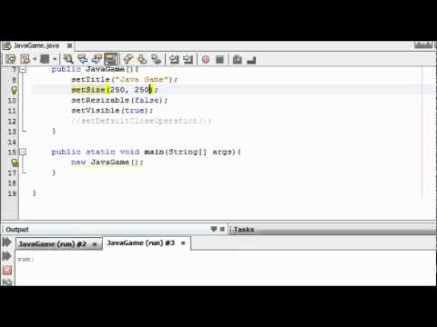 Java Game Programming for Beginners - #1 - Creating a Screen for a Game