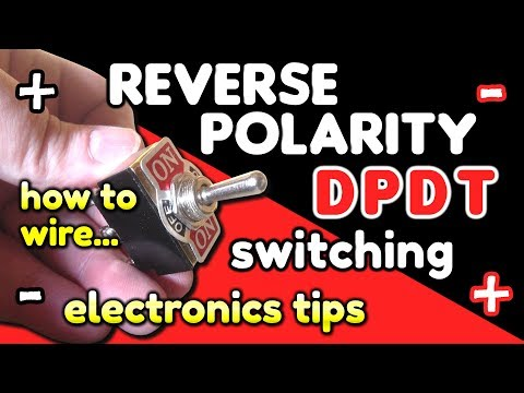 Reverse Polarity Switching / DPDT switch wiring by VegOilGuy