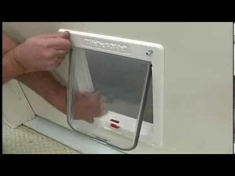 Instruction How To Install Cat Door.