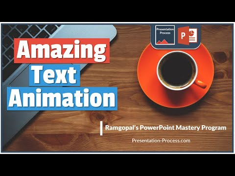 How to Create Amazing PowerPoint Text Animation Effect