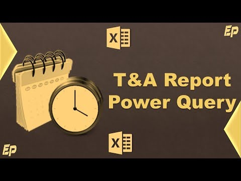 Power Query, Pivot Tables - Time & Attendance Report (One Click Automation)