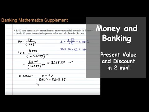 Present Value with Interest Compounded Monthly