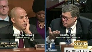 Sen Booker Asks Nominee Barr If He Intends On Prosecuting Federal Law In States That Have Legalized?