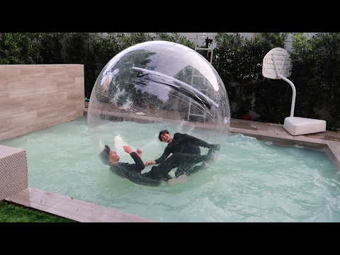TWINS STUCK IN GIANT BUBBLE BALL!