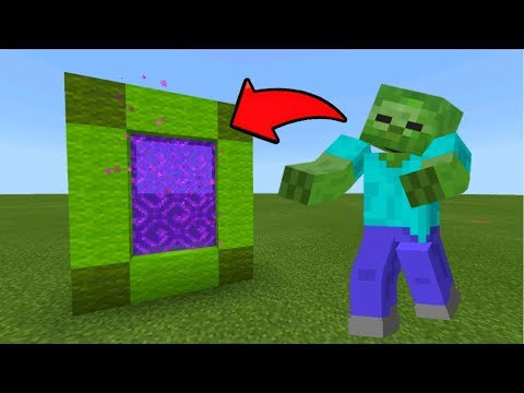 Minecraft Pe How To Make A Portal To The Zombie Dimension - Mcpe Portal To The Zombie!!!