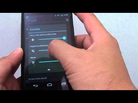 Google Nexus 4: How to Change Ringtone and Notifictions Volume