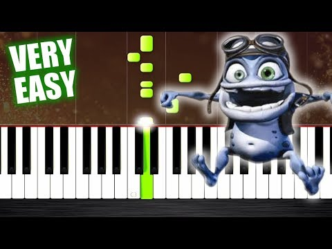 Crazy Frog - Axel F - VERY EASY Piano Tutorial by PlutaX