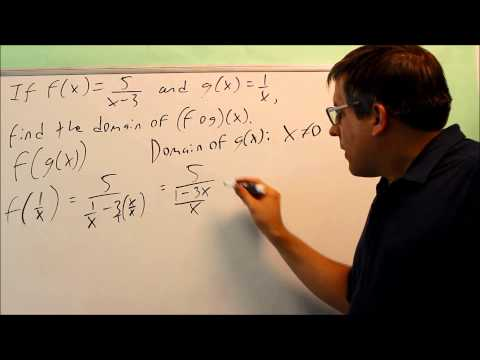Find the Domain of a Composite Function