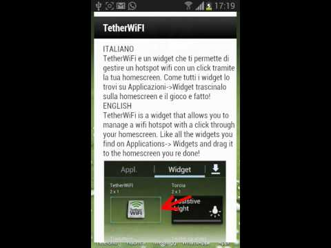 Tether WiFi Hotspot one click for Android