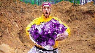 Found Super Rare $100,000 Amethyst Crystal